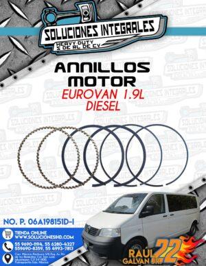 ANILLOS MOTOR EUROVAN 1.9L DIESEL