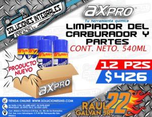 AXPRO LIMPIADOR DEL CARBURADOR Y PARTES CAJA