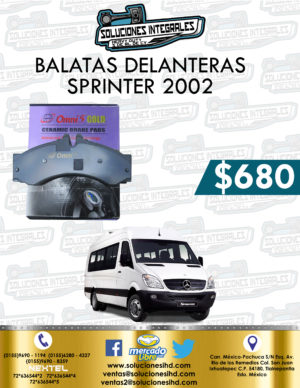 BALATA DELANTERA SPRINTER OM651 2002