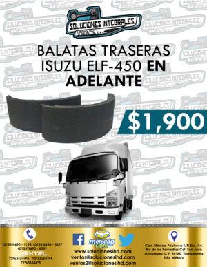 BALATA TRASERA ISUZU ELF 450, 500 Y 600