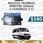 BALATA TRASERA SPRINTER OM646 4 CILINDROS