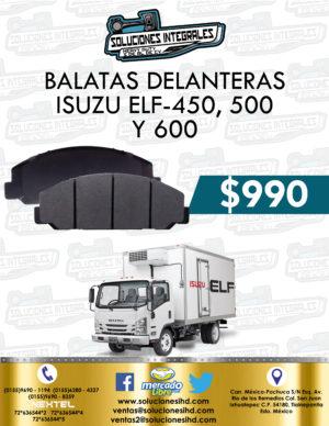 BALATA DELANTERA ISUZU ELF 450, 500 Y 600