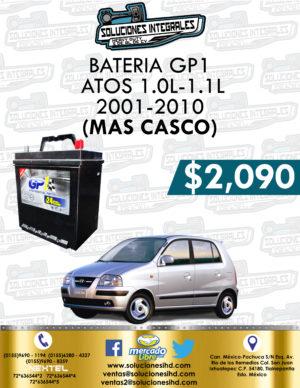 BATERÍA GP1 MÁS CASCO ATOS 1.0L-1.1L