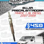 BUJÍA PRECALENTADORA TRAFIC 1.9L 2007-2009