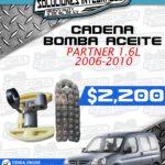 CADENA BOMBA ACEITE PARTNER 1.6L 2006-2010