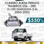 CILINDRO RUEDA FRENOS TRASEROS DER. O IZQ. H-100 GASOLINA 2.4L