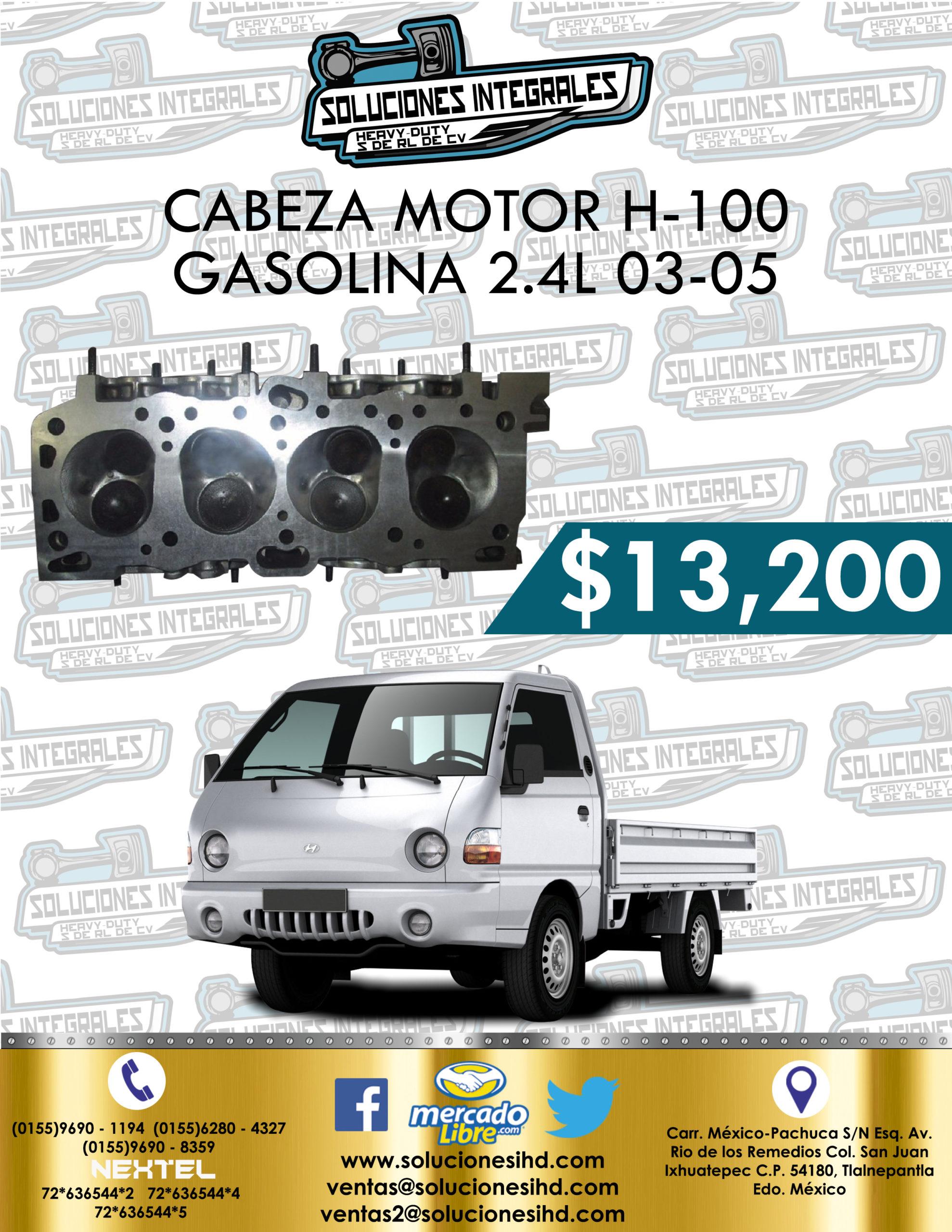 CABEZA MOTOR H-100 GASOLINA 2.4L