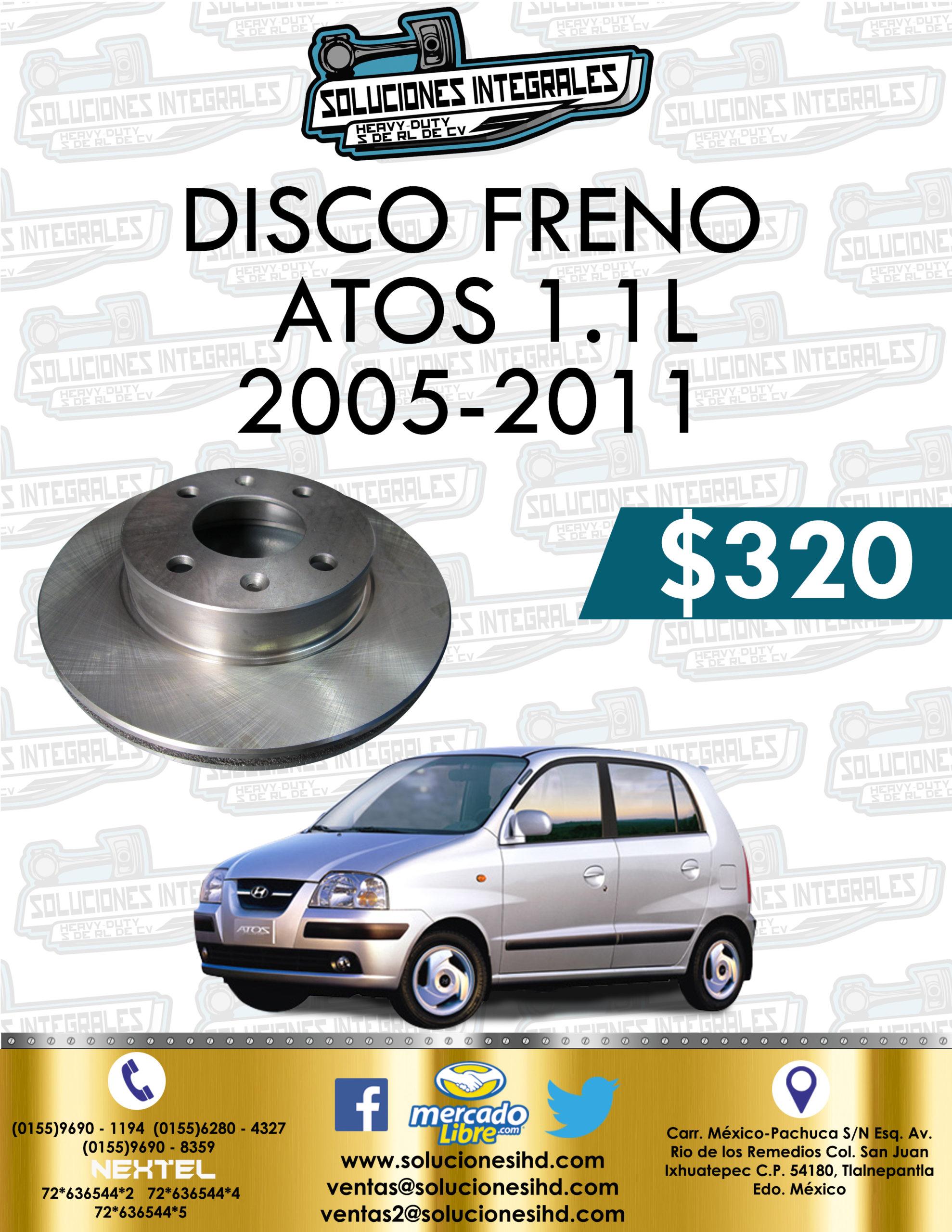 DISCO FRENO ATOS 1.1L 2005-2011