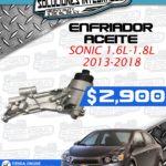 ENFRIADOR ACEITE SONIC 1.6L-1.8L 2013-2018