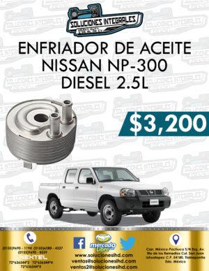ENFRIADOR ACEITE NISSAN NP300 2.5L DIESEL