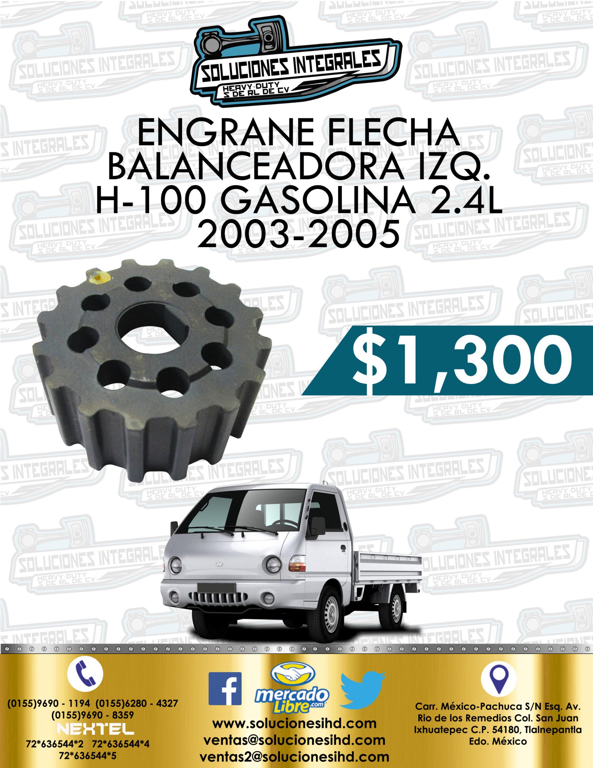 ENGRANE FLECHA BALANCEADORA IZQUIERDA H-100 GASOLINA 2.4L