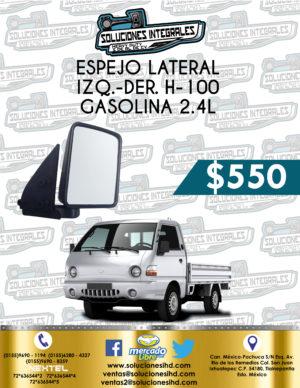 ESPEJO LATERAL DER. O IZQ. H-100 GASOLINA 2.4L