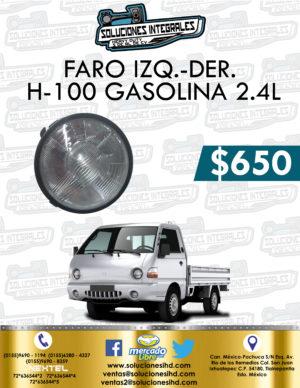 FARO DELANTERO DER. O IZQ. H-100 GASOLINA 2.4L