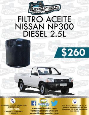 FILTRO ACEITE NISSAN NP300 2.5L DIESEL
