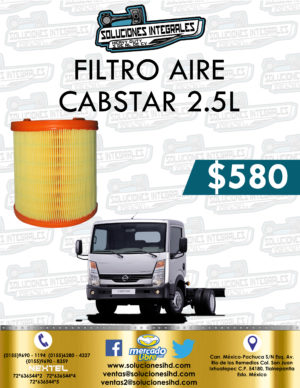 FILTRO AIRE NISSAN CABSTAR 2.5L DIESEL