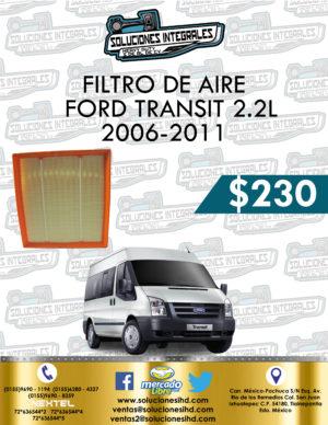 FILTRO AIRE FORD TRANSIT 2.2L 2006-2011