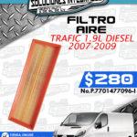 FILTRO AIRE TRAFIC 1.9L 2007-2009
