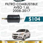 FILTRO COMBUSTIBLE AVEO 1.6L 2008-2017