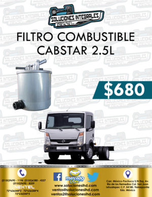 FILTRO COMBUSTIBLE NISSAN CABSTAR 2.5L DIESEL