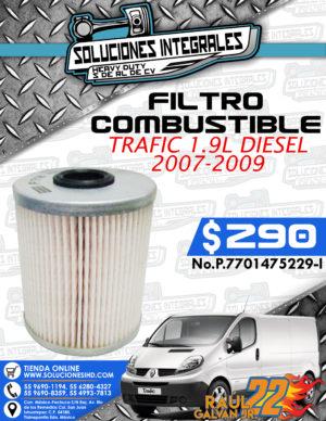 FILTRO COMBUSTIBLE TRAFIC 1.9L 2007-2009