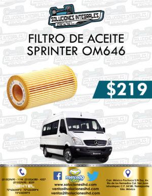 FILTRO ACEITE SPRINTER OM646