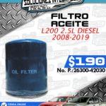 FILTRO ACEITE L200 2.5L DIESEL