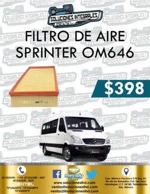 FILTRO AIRE SPRINTER OM646
