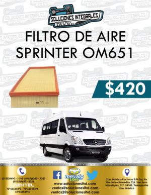 FILTRO AIRE SPRINTER OM651