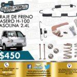 HERRAJES FRENO TRASERO H-100 GASOLINA 2.4L