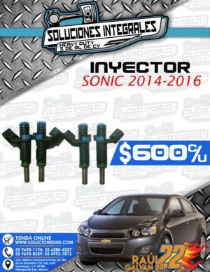 INYECTOR SONIC 2014-2016