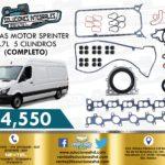 JUNTAS MOTOR COMPLETO SPRINTER OM647 2.7L 5 CILINDROS