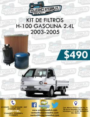 KIT FILTROS H-100 GASOLINA 2.4L