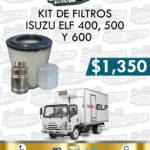 KIT FILTROS ISUZU ELF 400, 500 Y 600