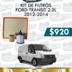 KIT FILTROS FORD TRANSIT 2.2L 2012-2014