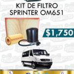 KIT FILTROS SPRINTER OM651