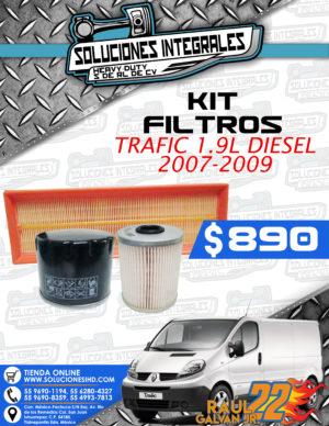 KIT FILTROS TRAFIC 1.9L 2007-2009