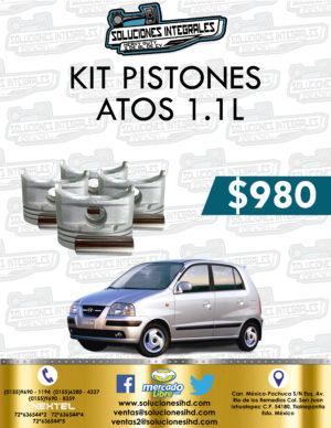 KIT PISTONES ATOS 1.1L