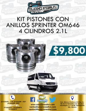 KIT PISTONES CON ANILLOS SPRINTER OM646 4 CILINDROS