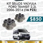 KIT SELLOS VÁLVULA FORD TRANSIT 2.2L 2006-2014