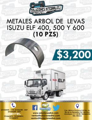 METALES ARBOL LEVAS ISUZU ELF 400, 500 Y 600