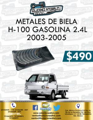 METALES BIELA H-100 GASOLINA 2.4L