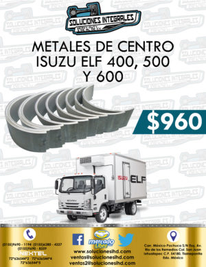 METALES CENTRO ISUZU ELF 400, 500 Y 600