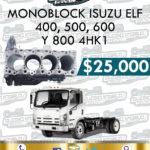 MONOBLOCK 4HK1 ISUZU ELF 400, 500 Y 600