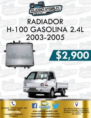 RADIADOR H-100 GASOLINA 2.4L