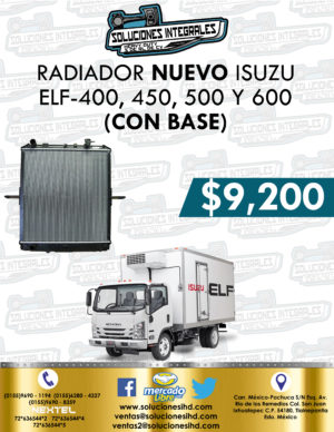 RADIADOR CON BASE ISUZU ELF 400, 450, 500 Y 600
