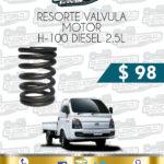 RESORTE VÁLVULA MOTOR H-100 DIESEL 2.5L