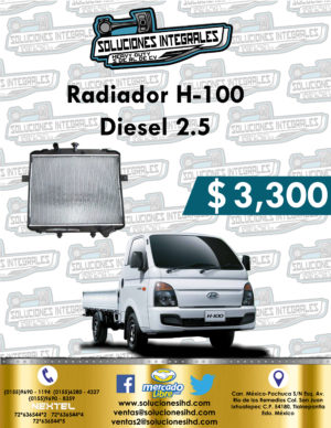 RADIADOR H-100 DIESEL 2.5L