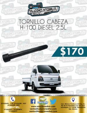 TORNILLO CABEZA MOTOR  H100 DIESEL 2.5L