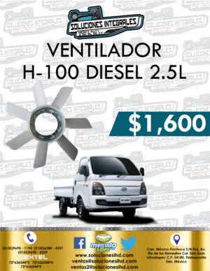 VENTILADOR H100 DIESEL 2.5L