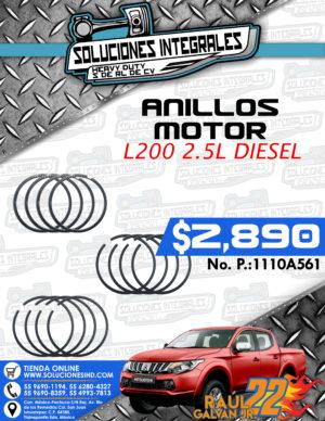 ANILLOS MOTOR L200 2.5L DIESEL